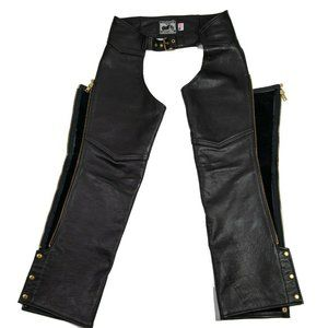 California Creations Black Leather Chaps USA Made